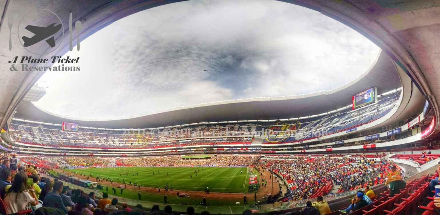 Mexico city 39 s estadio azteca club am rica vs queretaro for Puerta 1 estadio azteca